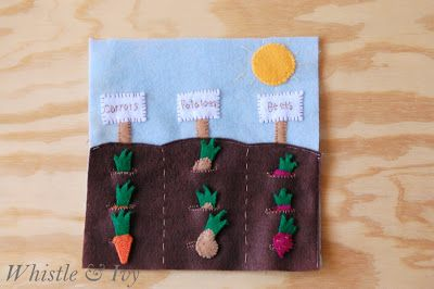 Whistle and Ivy: Vegetable Garden Quietbook Template