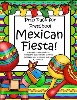 This is a comprehensive set of printables with a Mexican Fiesta! theme - make hands-on, interactive activities and learning games for your preschool and pre-K classroom. Developmentally appropriate activities are ideal for early learners for a Cinco de Mayo theme. 109 pages