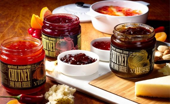 New, from Gourmet Village, Chutney for your cheese.  Also great on a sandwich!