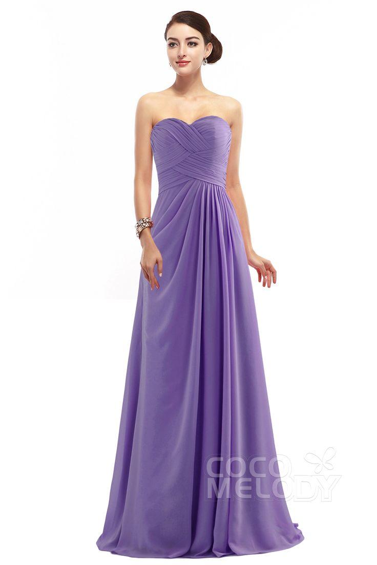 Best 25 zipper bridesmaid dresses ideas on pinterest robe delicate sheath column sweetheart floor length chiffon light purple sleeveless zipper bridesmaid dress with pleating ombrellifo Choice Image