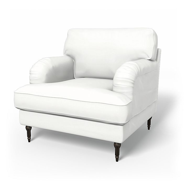 Stocksund, Armchair Covers, Armchair, Regular Fit using the fabric Panama Cotton Absolute White