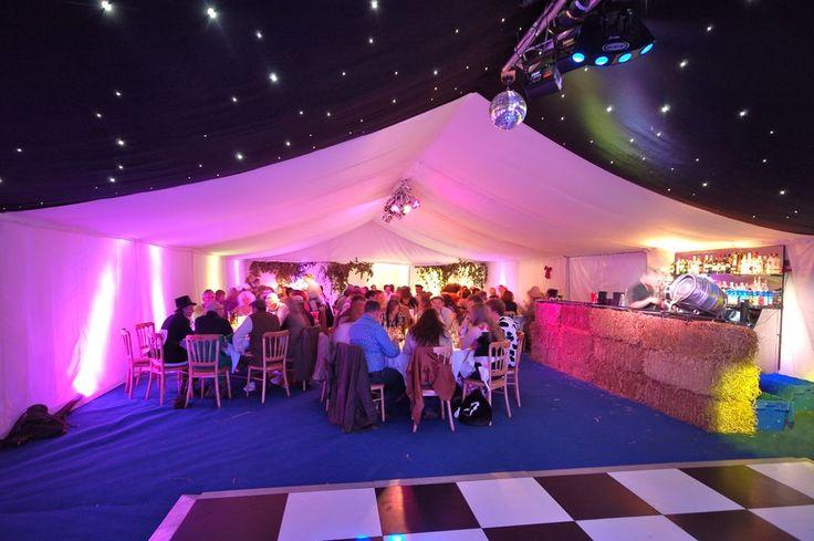 40th birthday party ideas | Starlit Marquee Roof at 40th ...
