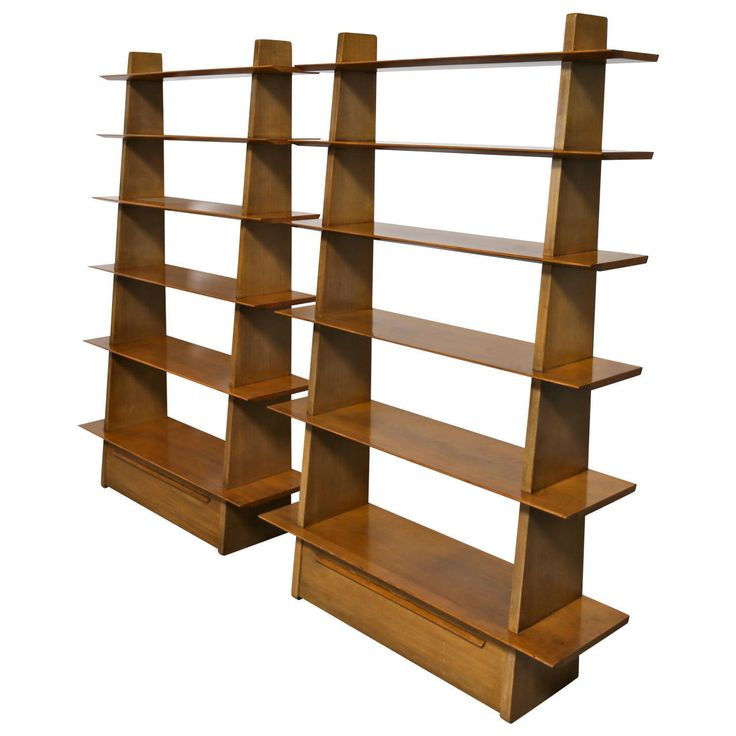 pair of rare bookcases model by edward wormley for dunbar mid century modern