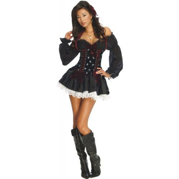 playboy skull pirate adult costume make like a pirate and get the booty in this sexy playboy pirate skull costume hell know where to find the treasure - Best Halloween Costumes Female
