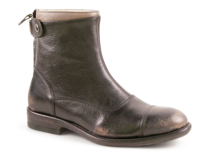 Smith's American women's booties in black Calf leather - Italian Boutique €195