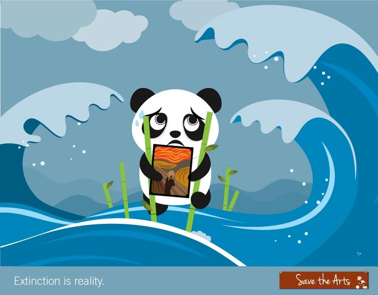 Even the pandas are saving the arts - will you lend us a hand as well?  www.simplygiving.com/savethearts    #arts #intercultural #theatre #institute #theater #play #creative #musical #fundraising #panda #extinction #cute #sg #singapore #thescream #tsunami