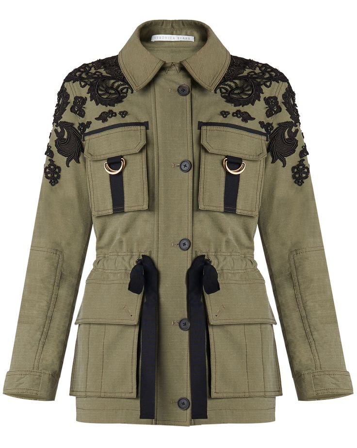 Heritage Utility Jacket - Veronica Beard. Pair with white v-neck tee, distressed skinny denim and gladiator sandals.