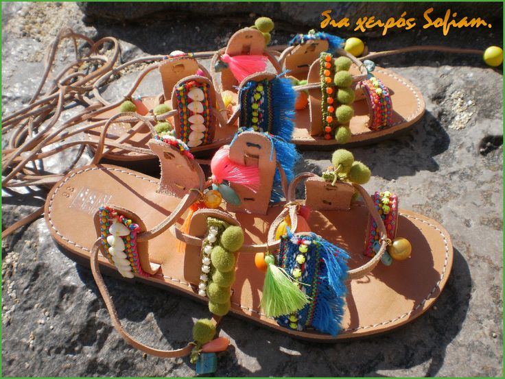 SaS033 bohemian sandals Green blue