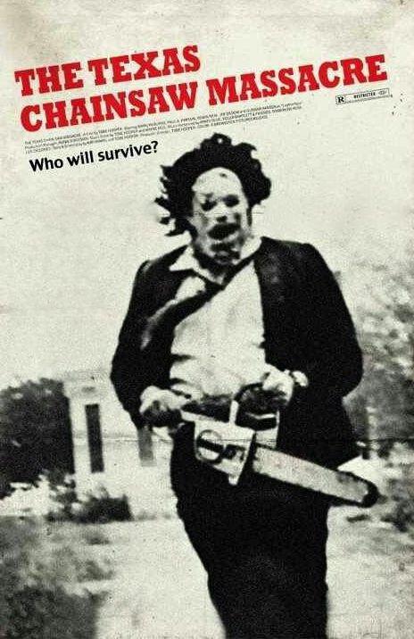 Movies Serial Killers n°4 - Gunnar Hansen as Leatherface (1974) - Movie poster - The Texas Chainsaw Massacre (Massacre à la tronçonneuse) de Tobe Hooper