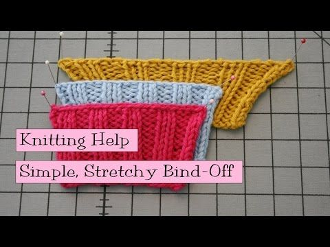 Simple Stretchy Bind-Off - v e r y p i n k . c o m - knitting patterns and video tutorials