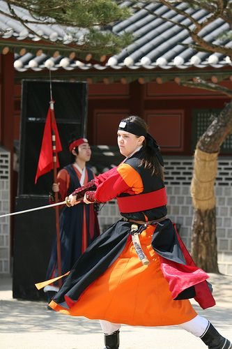Martial artists perform at Suwon Haenggung Palace | Korea
