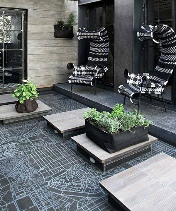 moderne terrassengestaltung 100 bilder und kreative einf lle terrassengestaltung modern. Black Bedroom Furniture Sets. Home Design Ideas