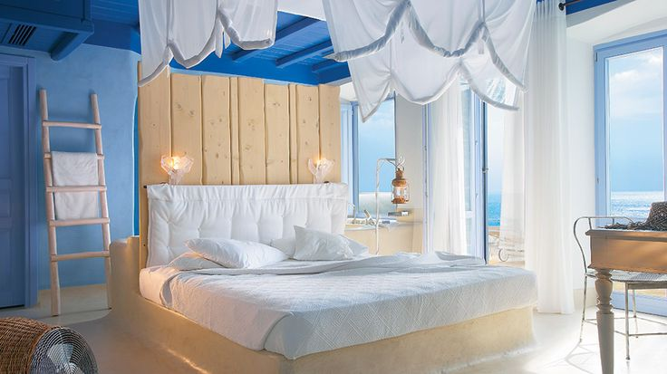 Mykonos Blu hotel sets new high standards to luxury travel. Every room is a unique architectural idea for those wishing discrete luxury and comfort! #mykonosblu #luxuryhotel #luxuryresorts #5starhotels