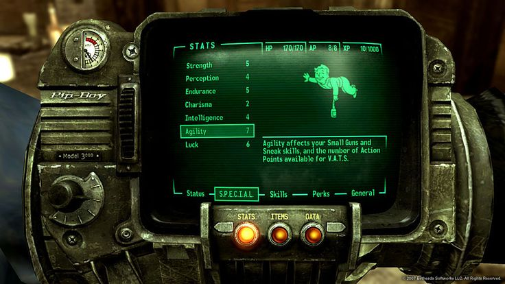 PIP BOY 3000 from the Fallout 3 video game