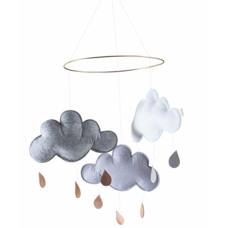 Leo & Bella | Konges Sløjd Sky Mobile Cloud Grey / Grey Melange / White