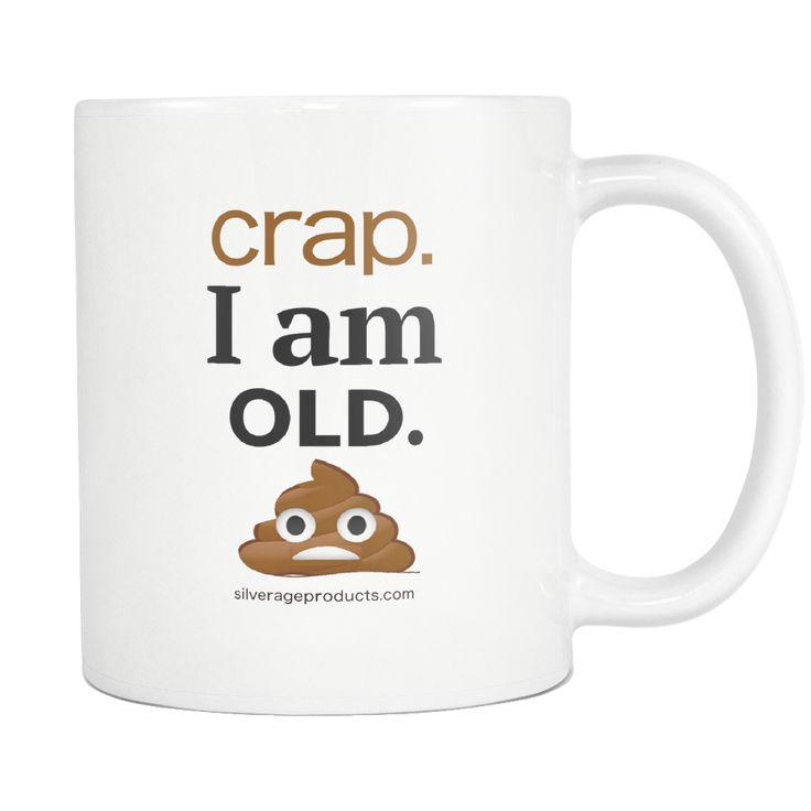 Ageing Humour Novelty Gift Coffee Mug - I am old Poop Emoji