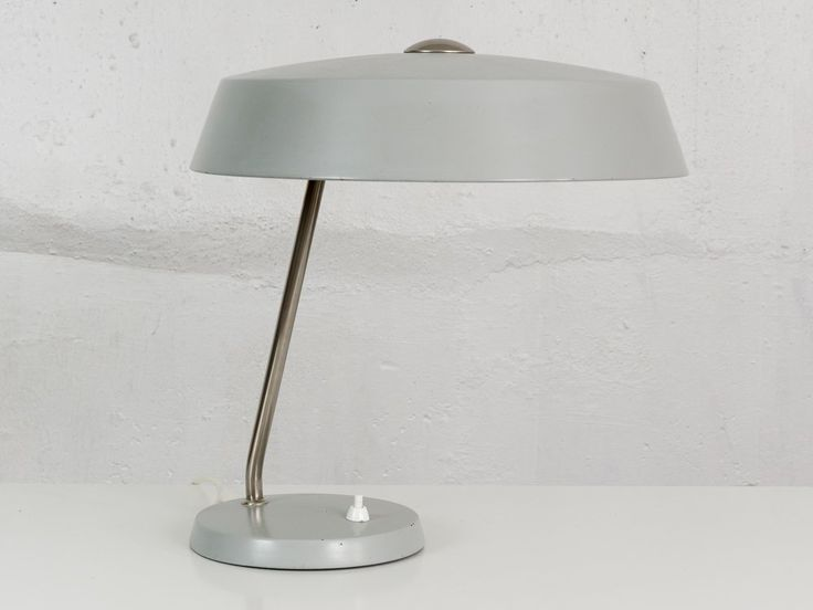 Grey Phillips Desk Lamp 1950s