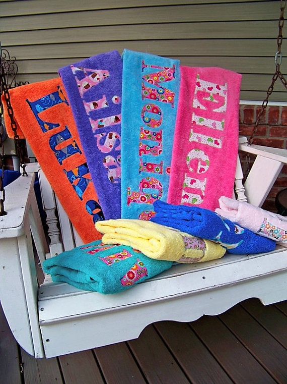 towels for beach i would so much rather buy these from her than monogrammed - Monogrammed Beach Towels