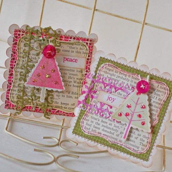 pink & green. These would make cute ornies.