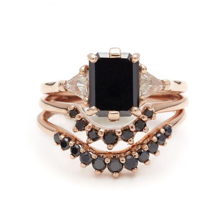 Black diamonds & crescent shapes / Anna Sheffield