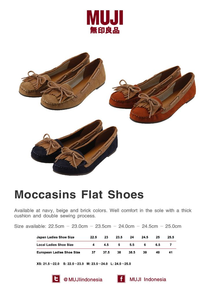 [New Items] Moccasins Flat Shoes for Ladies - available in navy, beige and brick colors ...