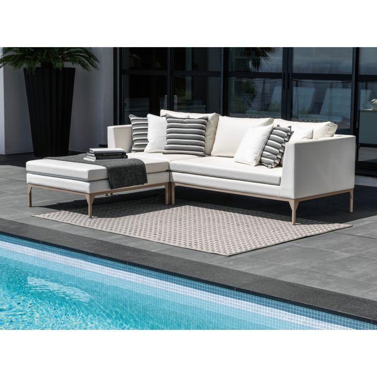 Astor Ottoman, Contemporary Outdoor Furniture Design At Cassoni.com