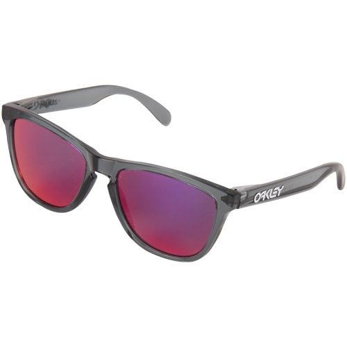 :)    Oakley Frogskins Sunglasses - Crystal Black/Positive Red Iridium
