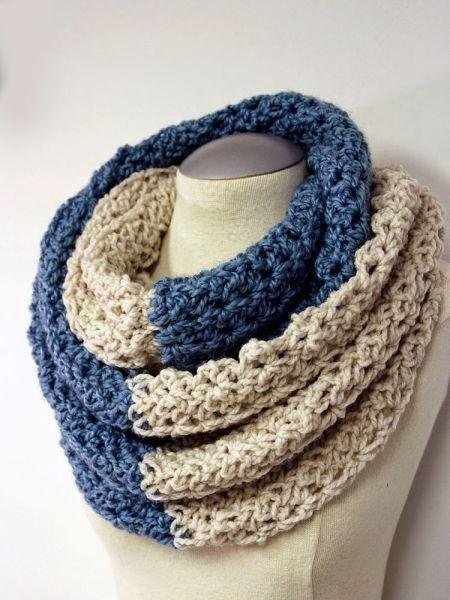 20 cachecol infinito DIY e padrões de crochê de capuz | Artesanato Tesouro Escondido e Qui ...