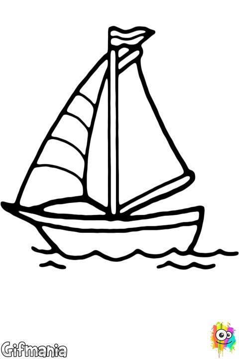 Velero   Dibujos para Colorear   Coloring pages, Coloring pages for ...