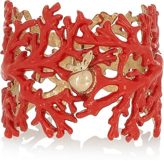 Coral, Pearl, and Diamond Bracelet designed by Hutton Wilkinson, Exclusively for HSN