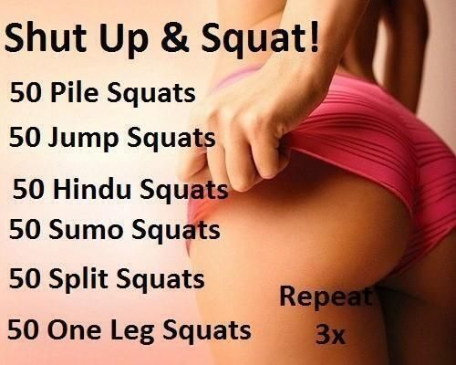 I don't know what all of these variations of the squats are, but sounds like a good thing to learn! :)