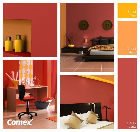 Comex comex comex colores c lidos para una decoraci n for Combinacion colores pintura paredes