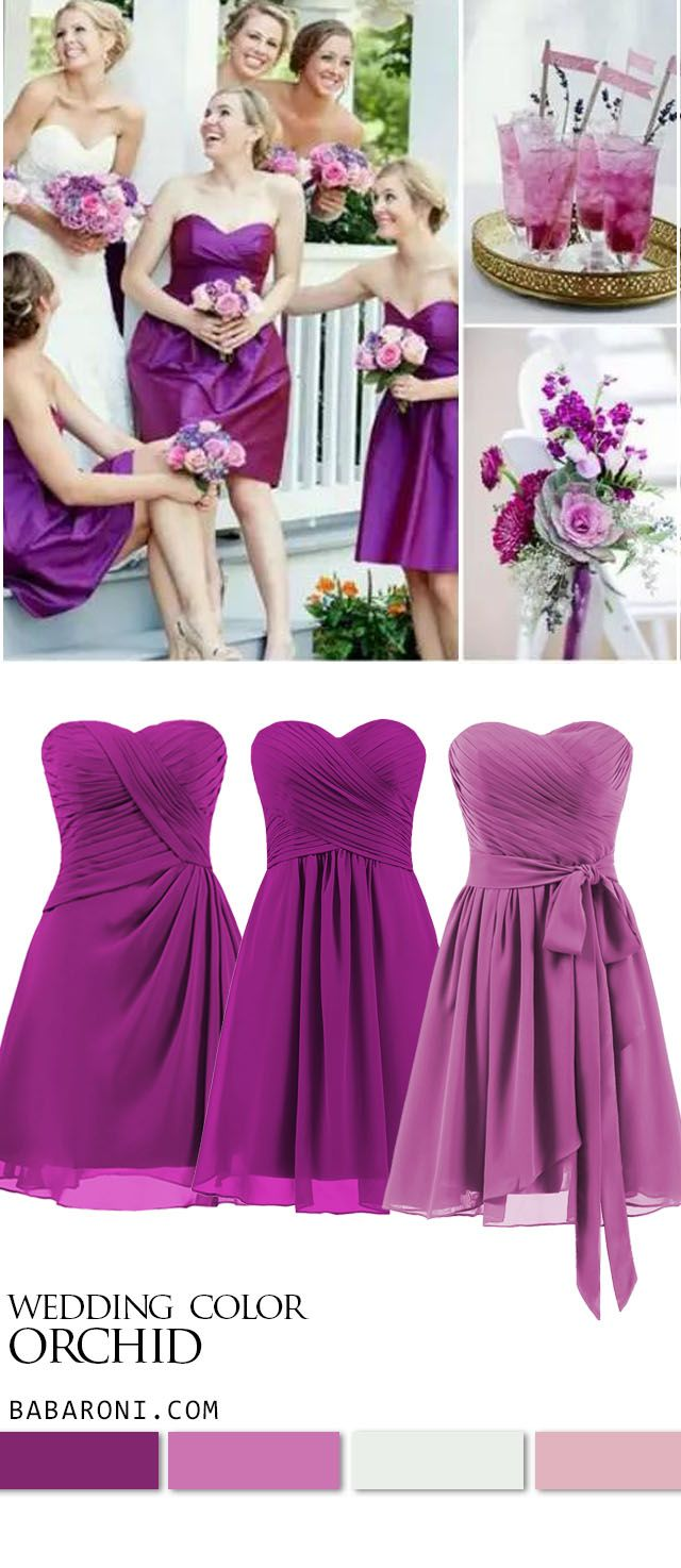 Bridesmaid Dresses In 2020 Orchid Bridesmaid Dresses Bridesmaid