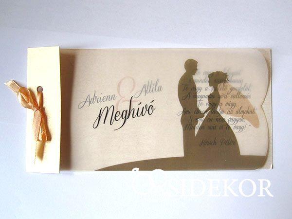Pausz esküvői meghívó vőlegény-menyasszony mintával - Orsi Dekor - Esküvői dekoráció és esküvői kellékek széles választékban