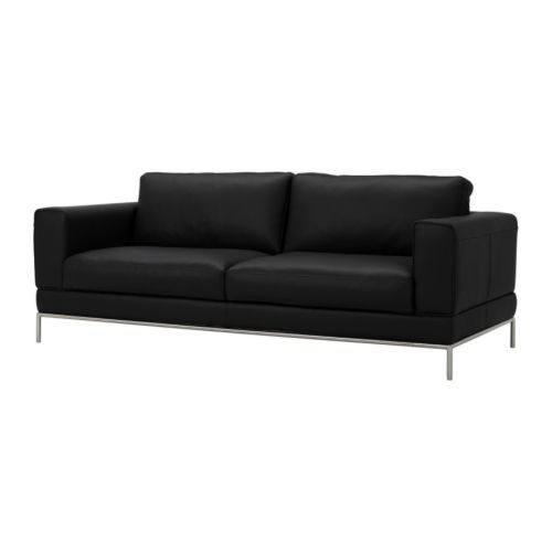 ARILD 3-seters sofa IKEA Møbler med sitteplasser og armlener i kraftig, slitesterkt og lettstelt narvskinn er praktisk for familier med barn...