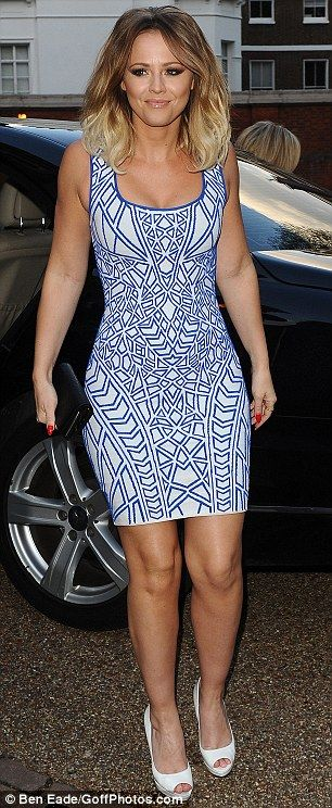 All eyes on her! Kimberley looks simply sensational in her dress, which flaunted her slender curves to perfection