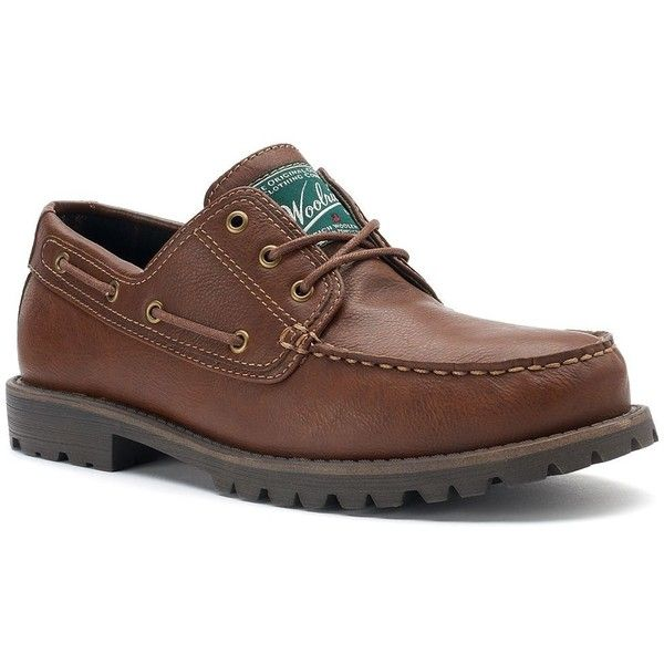 Woolrich Trout Run Men's Water-Resistant Loafers ($65) ❤ liked on Polyvore featuring men's fashion, men's shoes, men's loafers, med brown, mens brown loafer shoes, mens loafer shoes, mens brown loafers, mens lace up shoes and vegan mens shoes