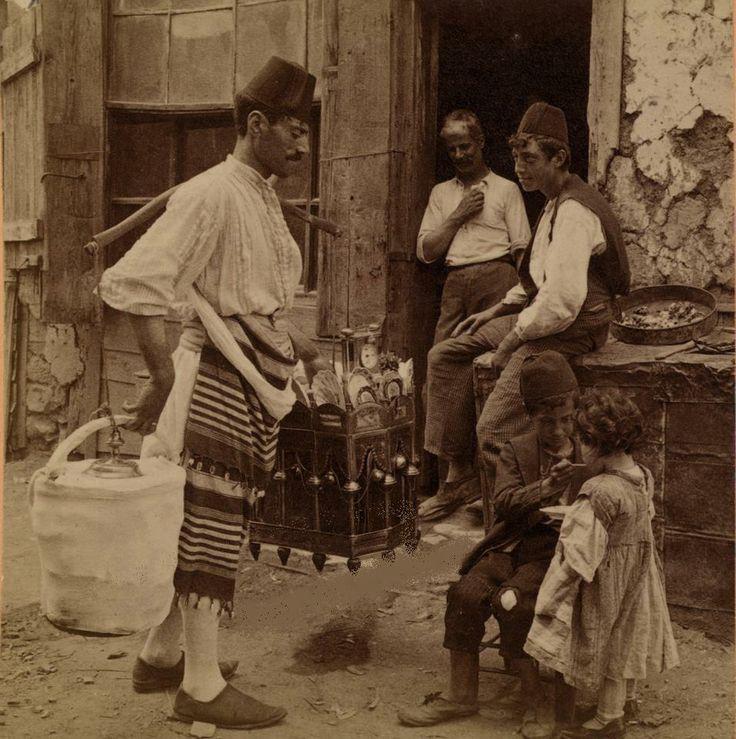 Eski İstanbul'da Dondurmacı,1898
