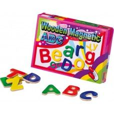 Litere din lemn cu magnet