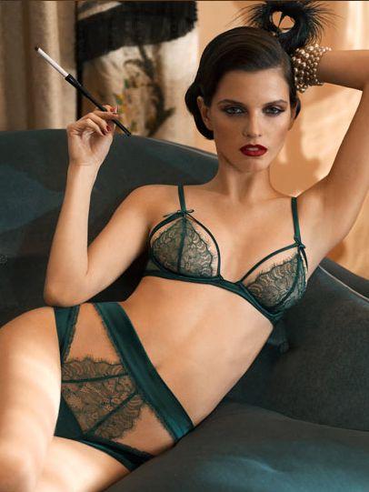 La Perla Lingerie Roaring Collection vert transparence découpes ajourées
