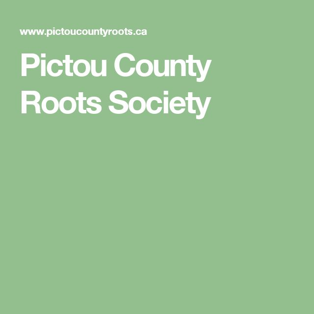Pictou County Roots Society