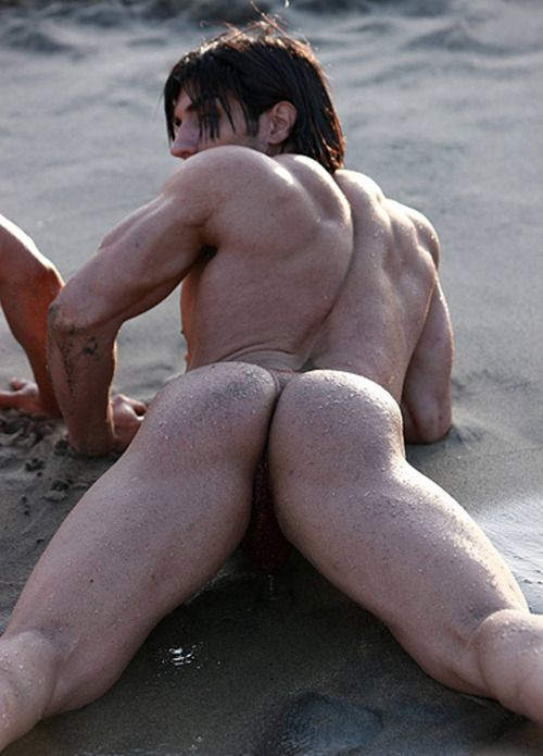 photo bottom naked beach gay couple