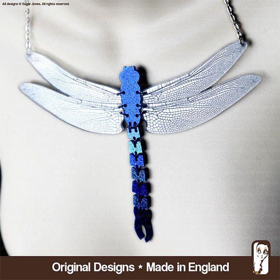 Perspex Dragonfly Necklace   Sugar Jones  WOW by SugarJonesUK