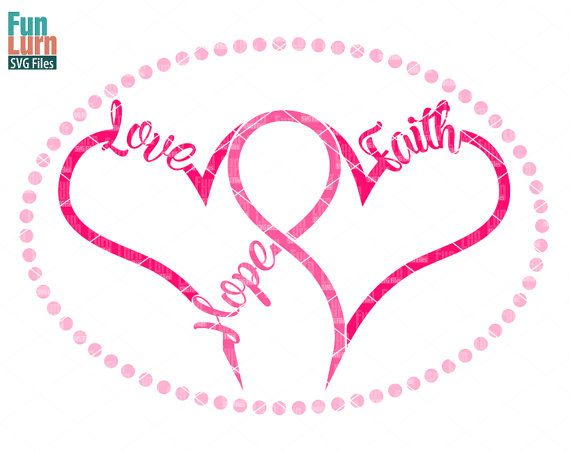 Breast Cancer SVG Hope Love FaithBreast Cancer by FunLurnSVG