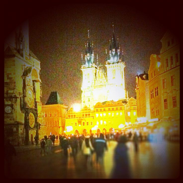 Beautiful Prague square, taken on a dslr altered on tilt shift, it's wer I proposed to my now wife ;)