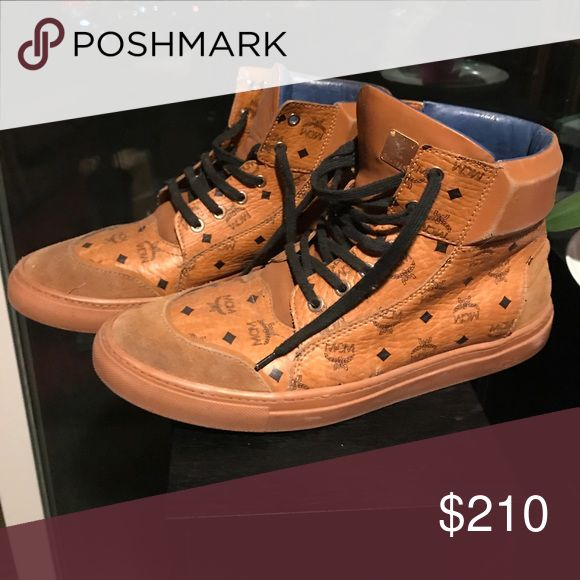 Mcm high top sneakers Worn but still have a lot of life MCM Shoes Sneakers