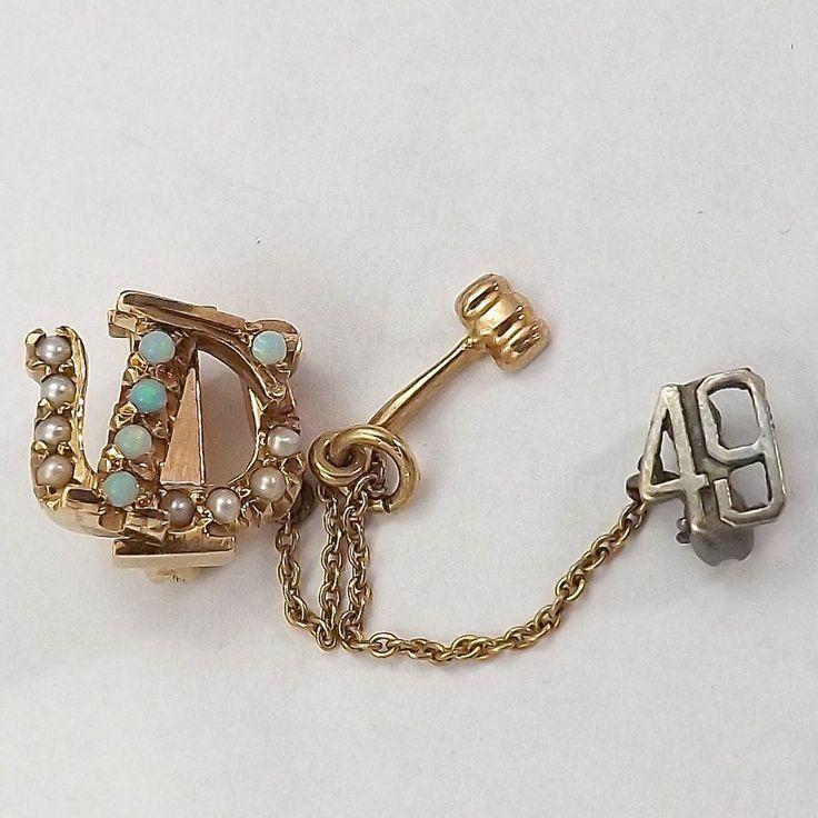 ... 10K Gold Ra... Phi Mu Badge Pearl