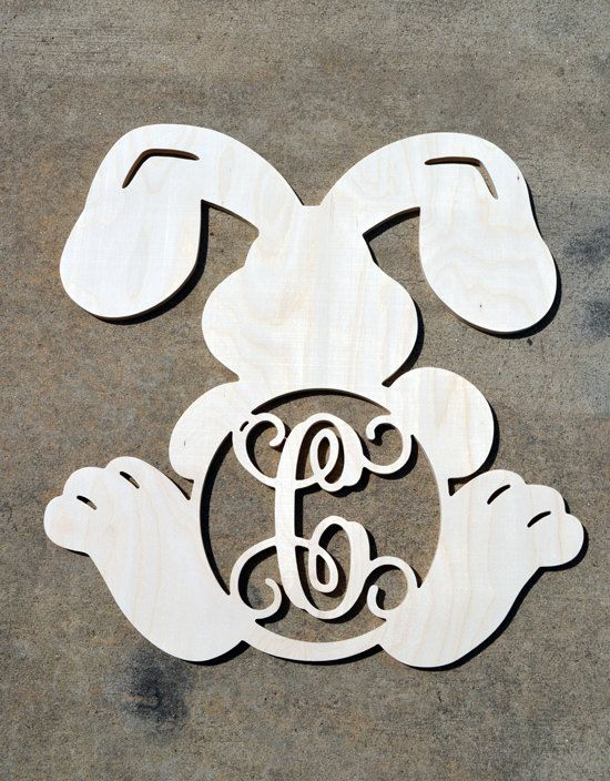 Hey, I found this really awesome Etsy listing at https://www.etsy.com/listing/226574973/wooden-monogram-unpainted-bunny-monogram