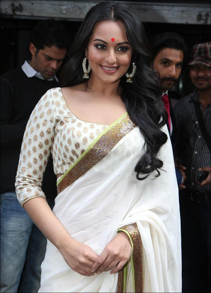 White-Blouse Designs For Silk Sarees
