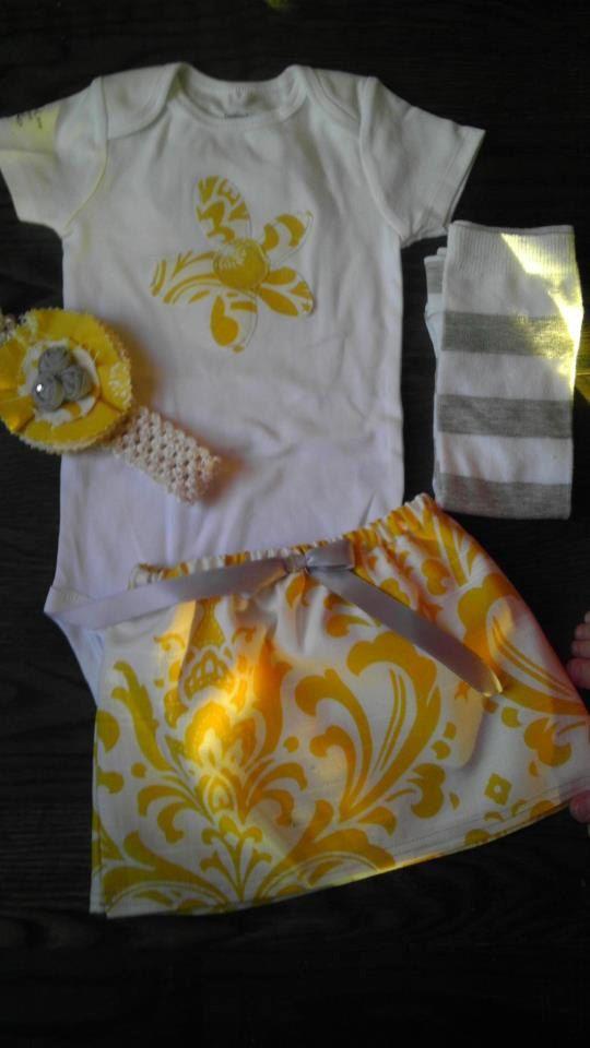 MADE TO ORDER Custom Baby Girls skirt, shirt, headband & leg warmers. $35.00, via Etsy from AddisonLane Boutique!